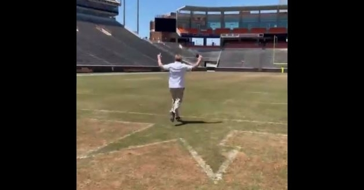 Dabo Swinney coached him on the finest points of running down the hill