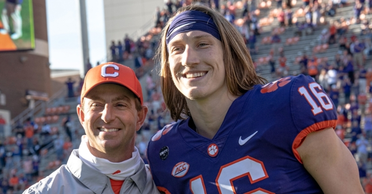 Swinney and Lawrence sharing a special moment together
