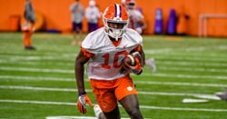 Clemson receiver out for Pittsburgh game with COVID