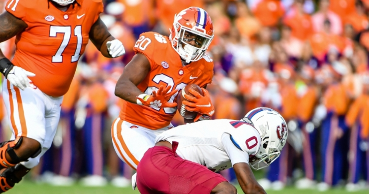 Pace picked up tips from Travis Etienne last season.