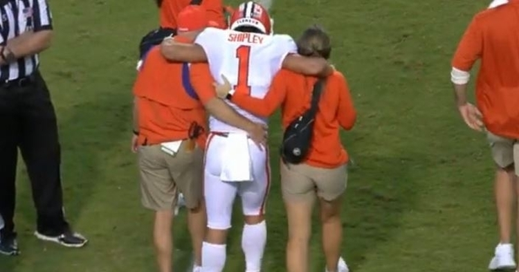 Shipley was injured in a physical game against the Wolfpack