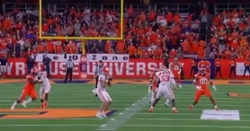 WATCH: Clemson pulls off fake punt with impressive throw by Will Spiers