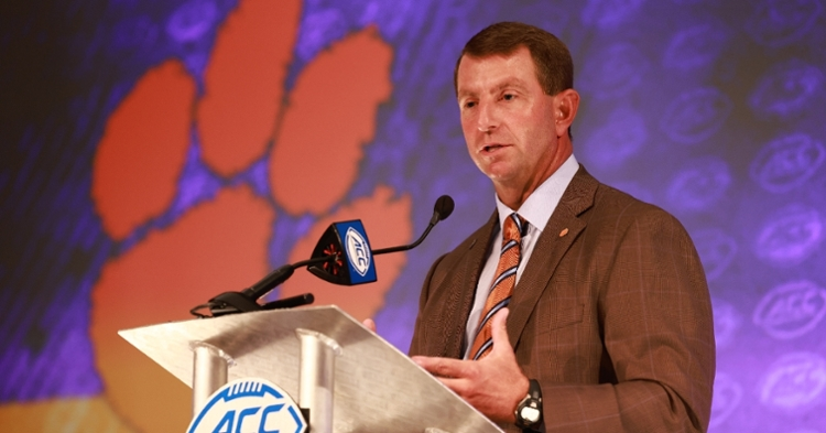 Swinney says how they have run the program to this point shows in the recent success. (ACC photo)