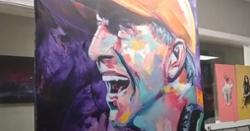 WATCH: Artist paints impressive Dabo Swinney artwork