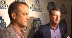 WATCH: Dabo Swinney, Shane Beamer talk in-state rivalry