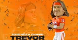 Limited Edition Trevor Lawrence Clemson 2018 Championship Bobblehead released