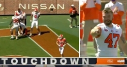 WATCH: Dabo Swinney, Skalski celebrate after Ajou's touchdown reception