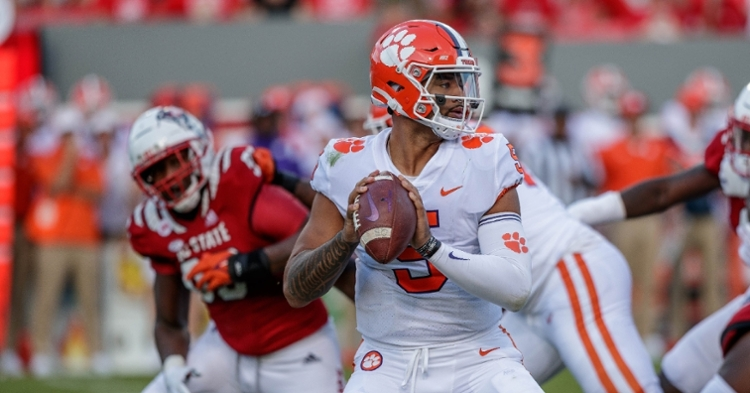 Clemson's offense struggled in the loss to the Wolfpack.