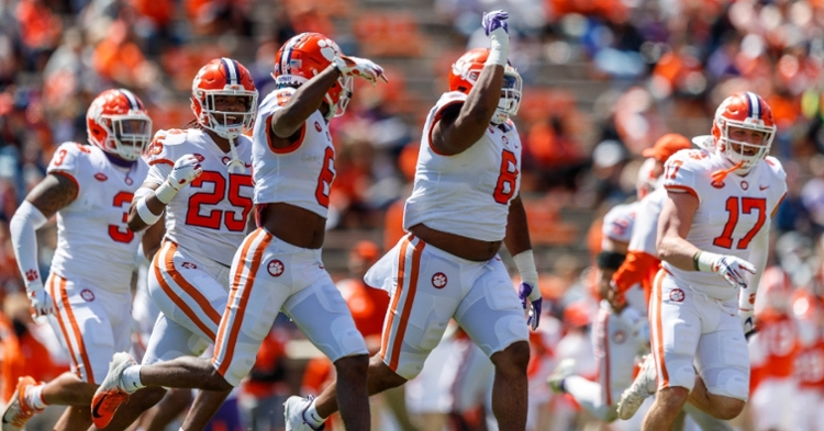 Clemson's White team bowed up defensively after the first drive. (ACC photo)
