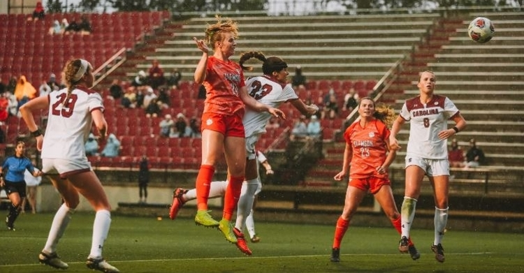 Clemson scored two second half goals to take the win. (Clemson athletics photo)