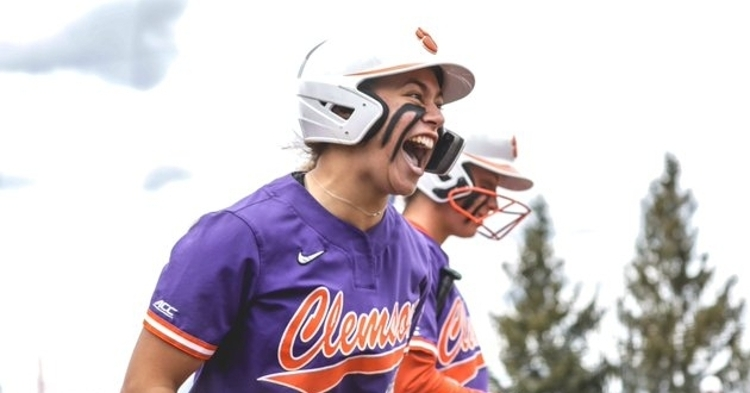 Logoleo hit multiple home runs as Clemson finished 29-5 in ACC play and reached 40 wins overall. (Clemson athletics photo)