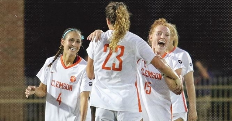 Clemson got the win over the Wolfpack (Photo courtesy: Clemson Women's Soccer Twitter)