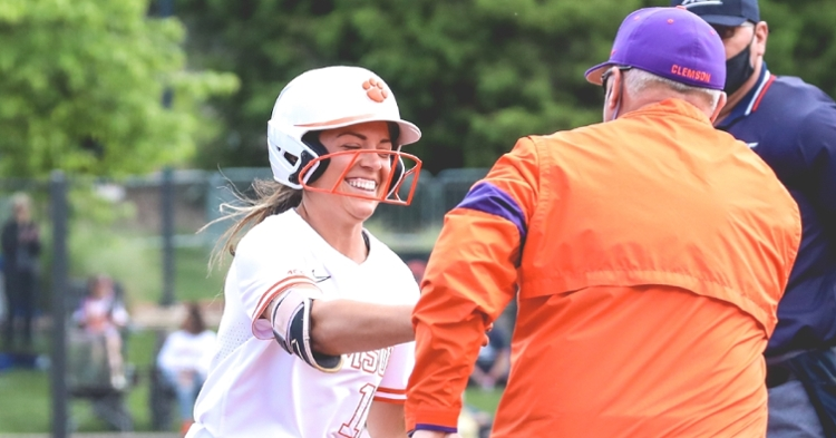 Pereira's two home runs were the difference. (Clemson athletics photo)