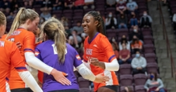 Clemson Volleyball sweeps Hokies in Blacksburg