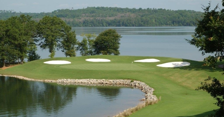 The 'Tiger Paw' hole on The Walker Course (Credit: Clemson)