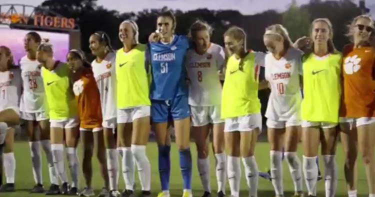 Clemson enjoyed a nice win over their in-state rival (Photo via Clemson women's soccer Twitter)