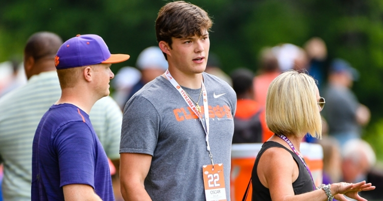 Delp has made a couple stops to Clemson this year.