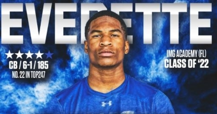 Everette committed to Clemson Saturday afternoon.