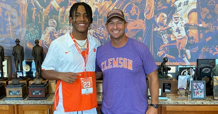 Harris has made his way to campus and earned a Clemson offer in June.