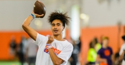 Sun's out, guns out: Iamaleava, Uiagalelei highlight morning session of Swinney camp