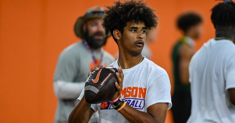 Dante Moore worked out on Thursday